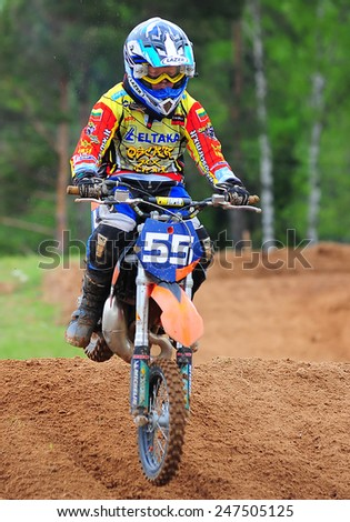 LITHUANIA-MAY 11:Motocross Race on May 11,2012 in Lithuania.