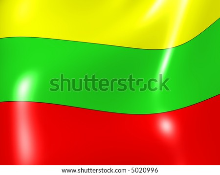 Lithuania. National Flag