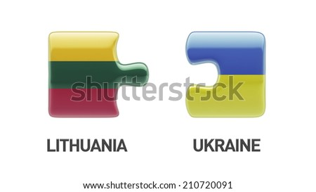Lithuania Ukraine High Resolution Puzzle Concept