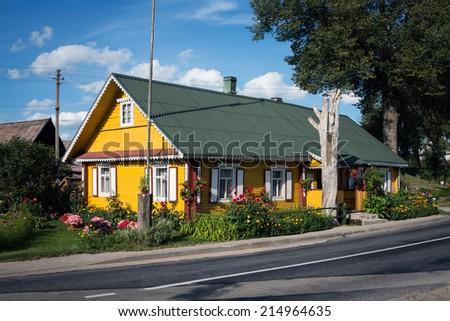 Lithuanian village house - stock photo
