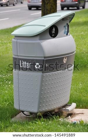 Litter bin - stock photo