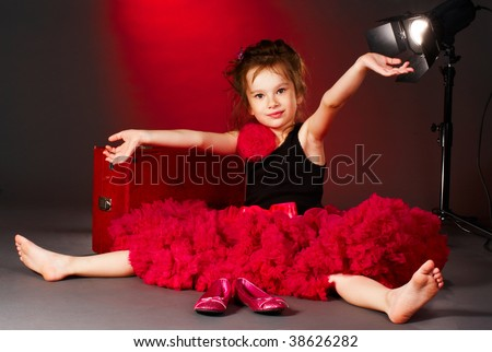 little actress - stock photo