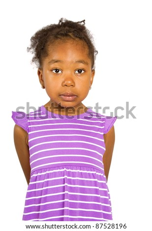 little adorable girl - stock photo