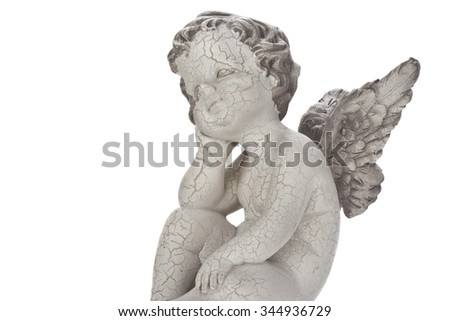 Little angel isolated on white background