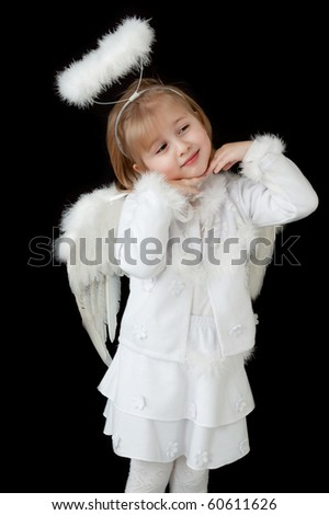 little angel over black