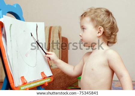 little artist is painting