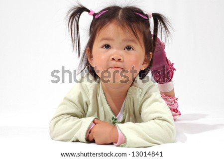little asian girl - stock photo