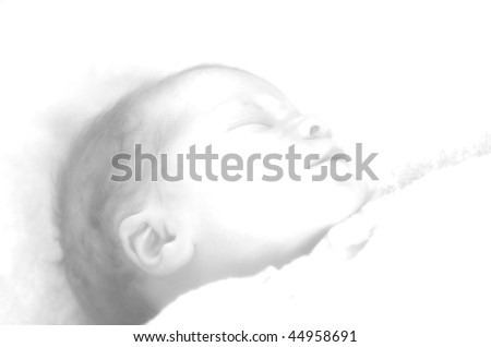 Little baby drawing - stock photo