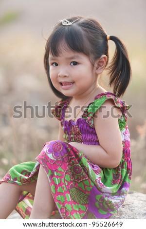 Little baby girl - stock photo