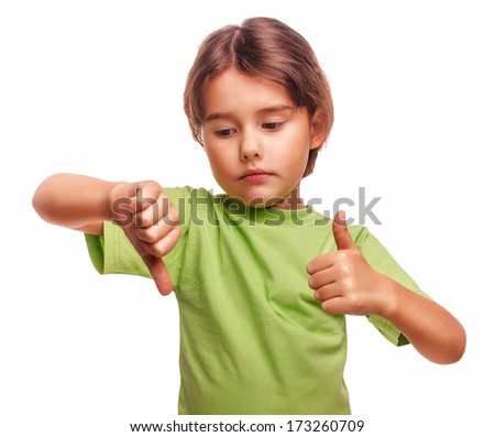 little baby girl shows sign yes no gesture isolated on white background emotions large - stock photo