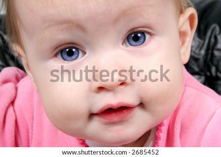 Little Baby Girl Taken Closeup