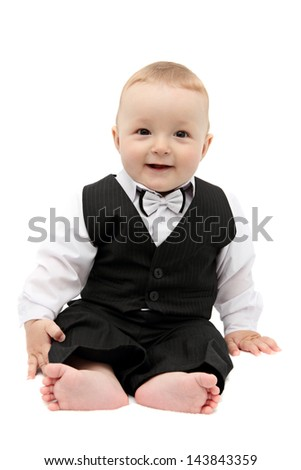 little baby in suit - stock photo