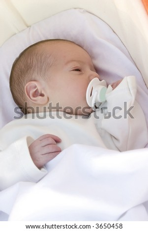 Little baby of 1 days old - stock photo