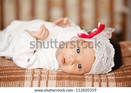 little baby portrait - stock photo