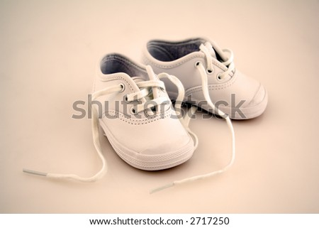 Little Baby Shoes Isolated on a Background - stock photo