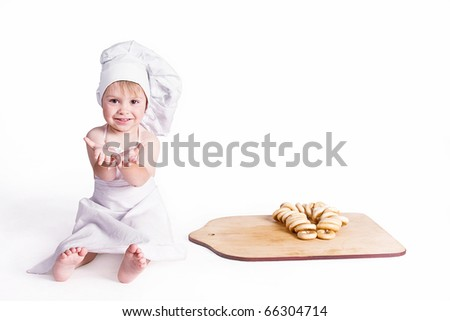 Little baker - stock photo