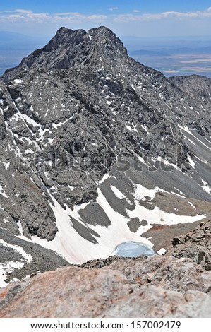 Little Bear Peak, Sangre de Cristo Range, Colorado - stock photo
