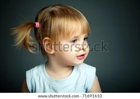 little beautiful girl - stock photo