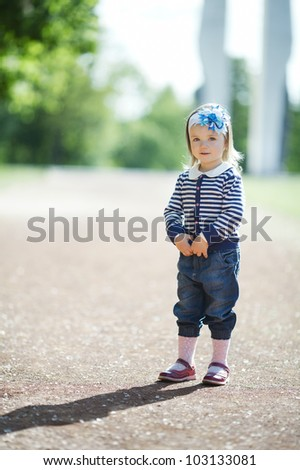 little beautiful girl portrait - stock photo