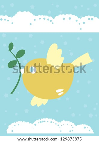 Little bird is symbol of spring, life and love - stock photo