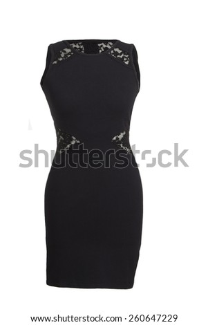 Little black dress - stock photo