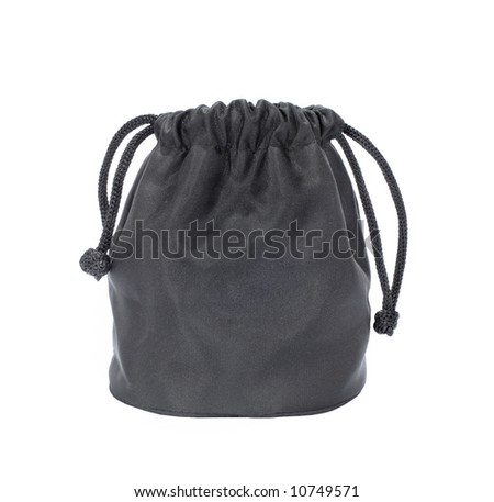Little black sack, isolated - stock photo