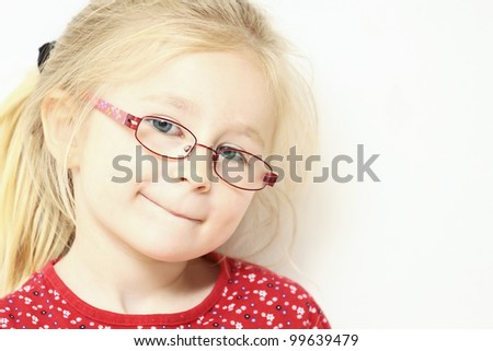 Little blond girl. See my portfolio for more - stock photo