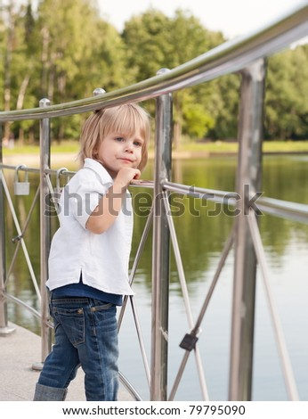little boy - stock photo