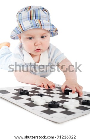 little boy and checkers