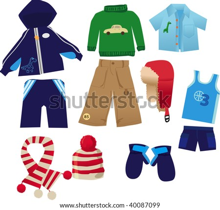 Little boy clothes pack - stock photo