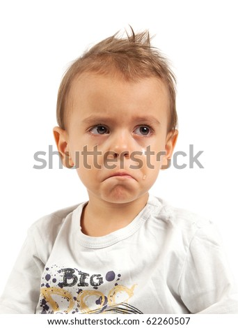 Little boy crying - stock photo