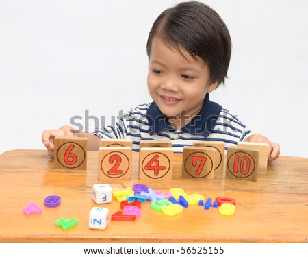 Little boy in preschool