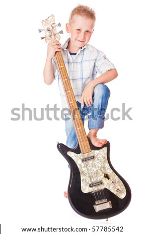 Little boy . Isolated on whie background - stock photo