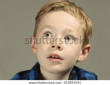 Little boy lives in fear - stock photo