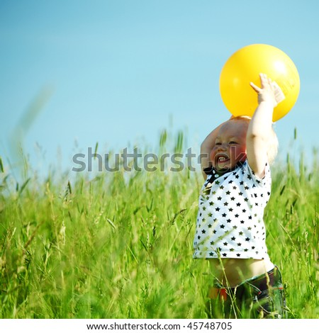 little boy play - stock photo