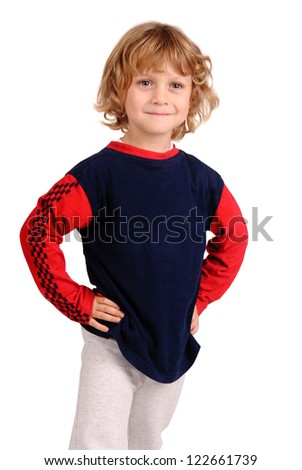 little boy posing - stock photo