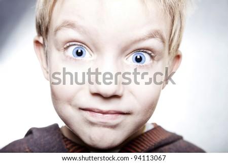 Little boy smile  portarait - stock photo