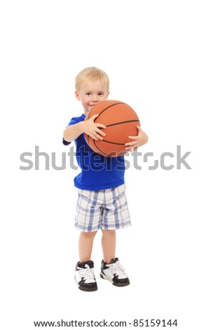 Little boy with basketball