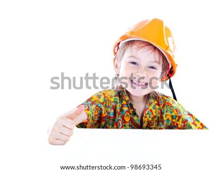 Little boy with helmet