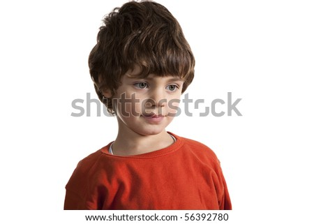 little boy with red sweater
