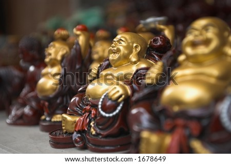 Little Buddhas - stock photo