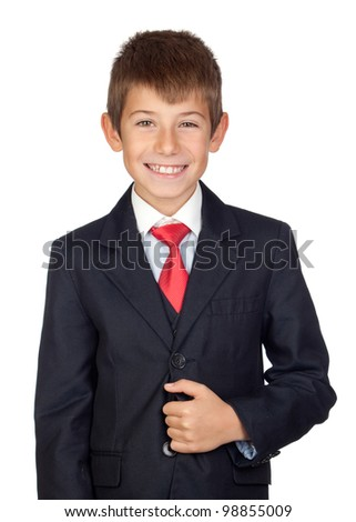 Little businessman isolated on a over white background - stock photo