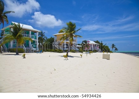 Little Cayman - Cottages - stock photo