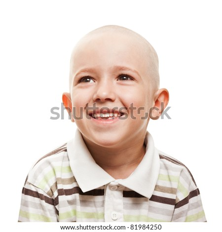 Little cheerful child boy happiness fun smiling