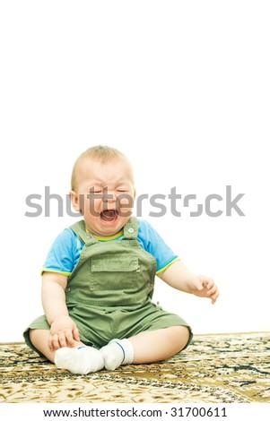 little child crying - stock photo