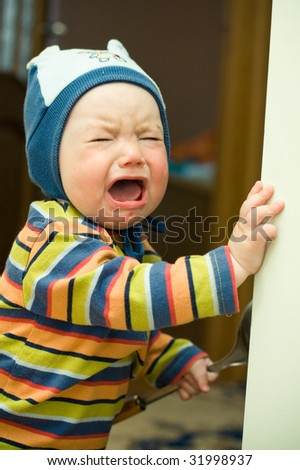 little child crying - stock photo