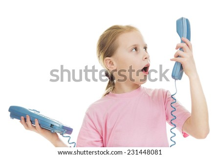 Little child speaking on the phone