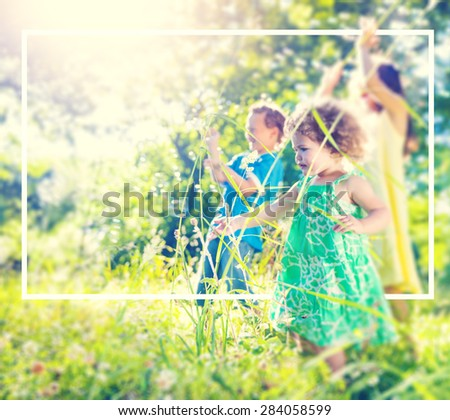 Little Children Playing Relaxation Holiday Concept