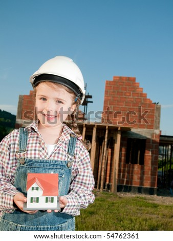 Little constructor - stock photo