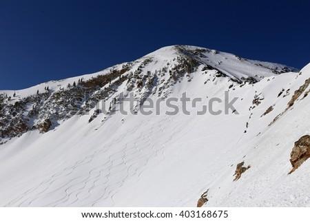 Little Cottonwood Canyon Skiing, Utah - stock photo
